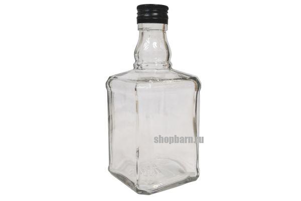 """Бутылка стеклянная """"Виски"""" с пробкой, 0,5 л"""