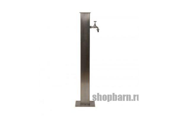 Садовая колонка для воды из нержавейки (Квадратная)